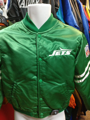 Vintage 80s NEW YORK JETS NFL Starter Nylon Jacket YL - #XL3VintageClothing