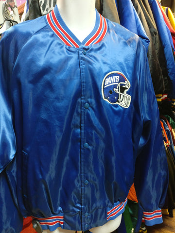 Vintage 80s NEW YORK GIANTS NFL Chalk Line Nylon Jacket XXL - #XL3VintageClothing