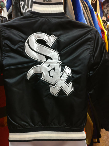 Vintage 90s CHICAGO WHITE SOX MLB Back Patch Starter Nylon Jacket YS - #XL3VintageClothing