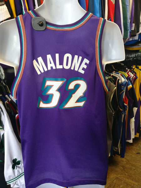 buy popular 0eb2c 9697e Vintage #32 KARL MALONE Utah Jazz NBA Champion Jersey 18-20