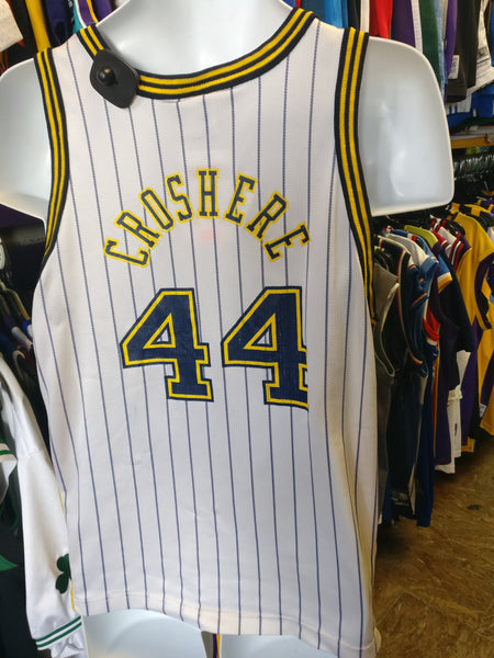 meet 61ebc 63fca Vtg #44 AUSTIN CROSHERE Indiana Pacers Pinstripe Champion Jersey 18-20