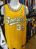Vintage #34 RAY ALLEN Seattle Supersonics NBA Nike Jersey L - #XL3VintageClothing