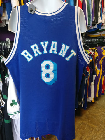 Vtg'96 #8 KOBE BRYANT Los Angeles Lakers NBA Mitchell & Ness Jersey 52 - #XL3VintageClothing