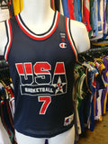Vintage #7 SHAWN KEMP USA Dream Team NBA Champion Jersey 10-12 - #XL3VintageClothing