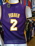 Vintage #2 DEREK FISHER Los Angeles Lakers NBA Adidas Jersey YS - #XL3VintageClothing