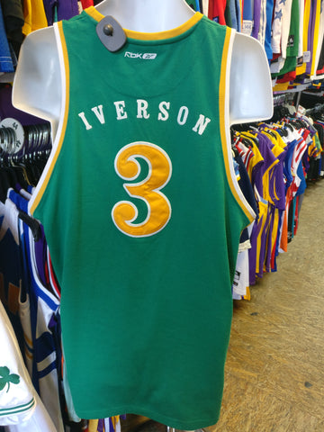 Vintage #3 ALLEN IVERSON Bethel High School Reebok Authentic Jersey M