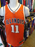 Vintage #11 ILLINOIS FIGHTHIN' ILLINI NCAA Nike Jersey YM (Deadstock)