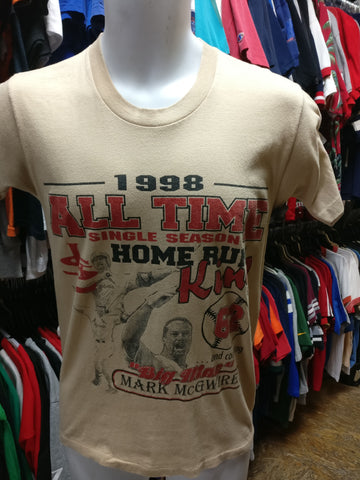 Vtg'98 #25 MARK McGWIRE St Louis Cardinals MLB Home Run King T-shirt M