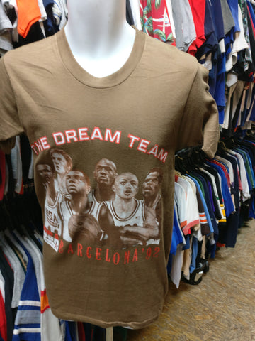 Vintage '92 USA DREAM TEAM NBA Barcelona Olympics S (Deadstock)