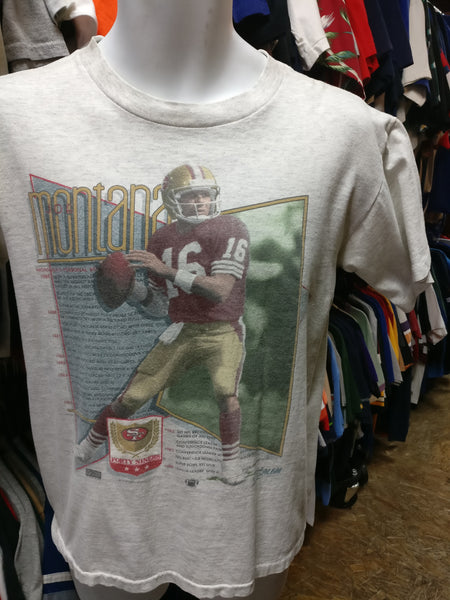Vintage '90 #16 JOE MONTANA San Francisco 49ers NFL Salem T-Shirt M