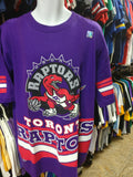 Vtg '94 TORONTO RAPTORS NBA Back Print Salem T-Shirt XL (Deadstock)
