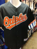 Vtg #9 BRADY ANDERSON Baltimore Orioles MLB Majestic Jersey L (Signed)