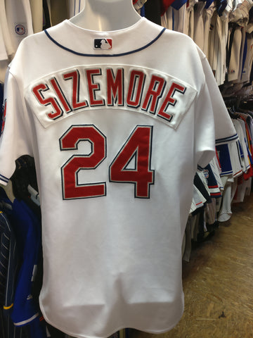 7d0ee32d0 Vtg 24GRADY SIZEMORE Cleveland Indians MLB Majestic Authentic Jersey48