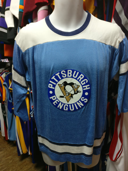 Vintage 80s PITTSBURGH PENGUINS NHL Rawlings Jersey L