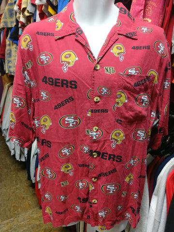 Vintage SAN FRANCISCO 49ERS NFL Hawaiian Shirt M