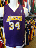 Vintage #34 SHAQUILLE O'NEAL Los Angeles Lakers NBA Nike Jersey YL