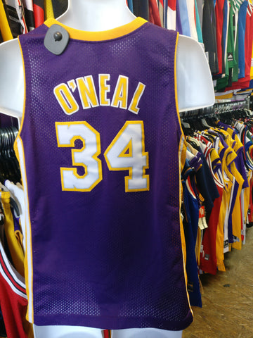 0214c46e2 Vintage  34 SHAQUILLE O NEAL Los Angeles Lakers NBA Nike Jersey YL
