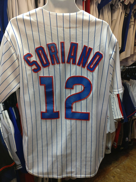 Vintage #12 ALFONSO SORIANO Chicago Cubs MLB Majestic L