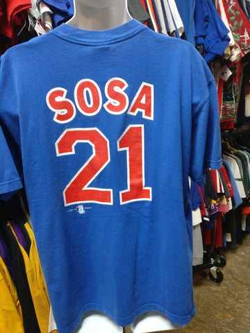 Vintage '99 #21 SAMMY SOSA Chicago Cubs MLB Joy athletic T-Shirt XL