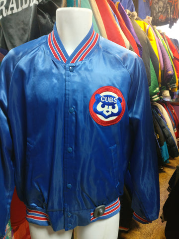 Vintage 80s CHICAGO CUBS MLB Chalk Line Nylon Jacket L