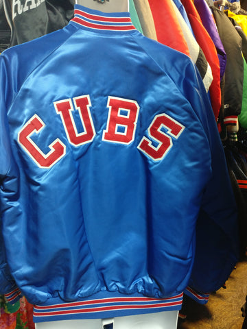 Vintage 80s CHICAGO CUBS MLB Back Patch Chalk Line Nylon Jacket L