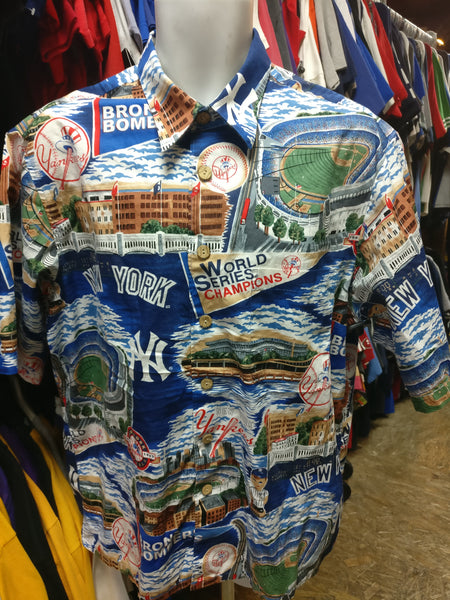 7ace0b1f Vintage NEW YORK YANKEES MLB Reyn Spooner Hawaiian Shirt L – XL3 ...