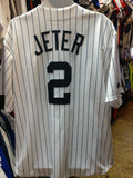 Vintage #2 DEREK JETER New York Yankees MLB Majestic Jersey 2XL