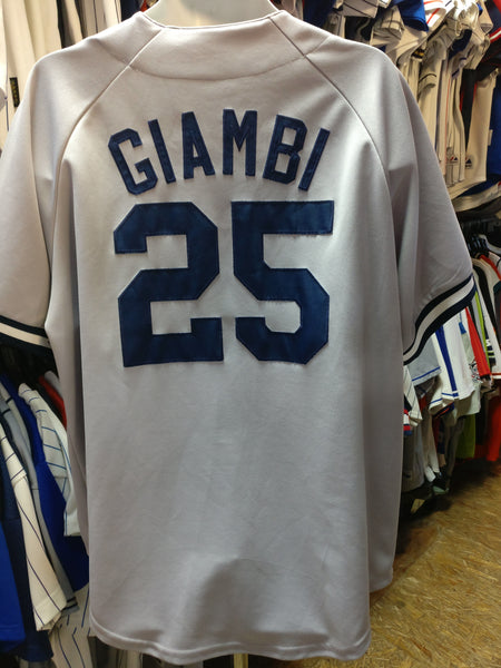Vintage #25 JASON GIAMBI New York Yankees MLB Majestic Jersey XL