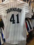 Vintage #41 RANDY JOHNSON New York Yankees MLB Majestic Jersey YL