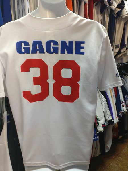Vintage #38 ERIC GAGNE Los Angeles Dodgers MLB Majestic Jersey 18-20