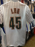 Vintage #45 CARLOS LEE Houston Astros MLB Majestic Jersey S