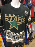 Vintage 90s DALLAS STARS NHL Back Print Salem Sportswear T-Shirt L