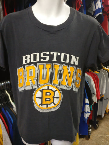 Vintage '90 BOSTON BRUINS NHL Logo 7 T-Shirt M