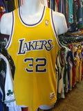 Vintage #32 MAGIC JOHNSON Los Angeles Lakers Sand Knit Jersey M