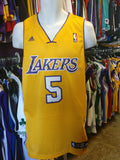 Vtg#5 JORDAN FARMAR LA Lakers NBA Adidas Authentic Jersey M(Deadstock)
