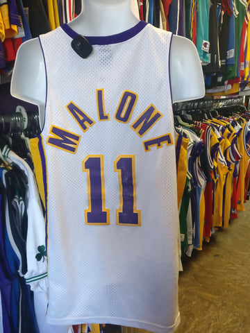 Vintage #11 KARL MALONE Los Angeles Lakers NBA Nike Jersey M
