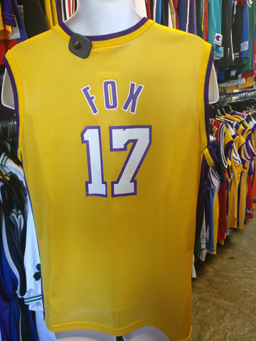 Vintage #17 RICK FOX Los Angeles Lakers NBA Champion Jersey 40
