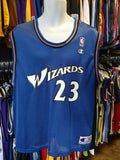 Vintage #23 MICHAEL JORDAN Washington Wizards NBA Champion Jersey 40