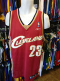 Vtg #23 LEBRON JAMES Cleveland Cavaliers NBA Reebok Authentic Jersey M