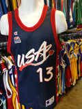 Vintage #13 SHAQUILLE O'NEAL USA Dream Team NBA Champion Jersey 40