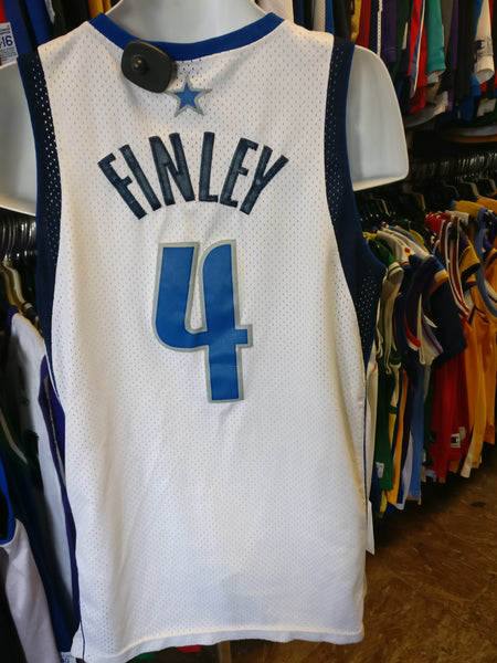 Vintage #4 MICHAEL FINLEY Dallas Mavericks NBA Nike Jersey M