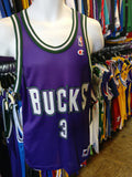 Vintage #3 SHAWN RESPERT Milwaukee Bucks NBA Champion Jersey 40
