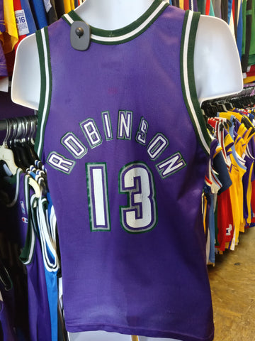 Vintage #13 GLENN ROBINSON Milwaukee Bucks NBA Champion Jersey 40