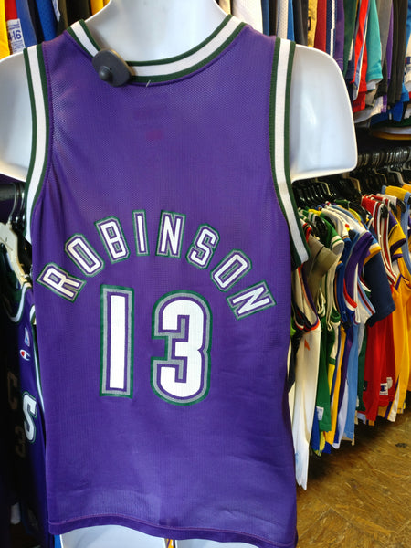 3e89af6570f ... france vintage 13 glenn robinson milwaukee bucks nba champion jersey 40  c7368 cf876