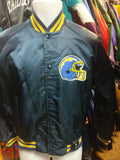 Vtg 80s SAN DIEGO CHARGERS NFL Back Patch Chalk Line Nylon Jacket S
