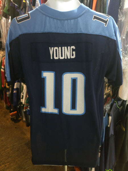 Vintage #10 VINCE YOUNG Tennessee Titans NFL Reebok Jersey YXL