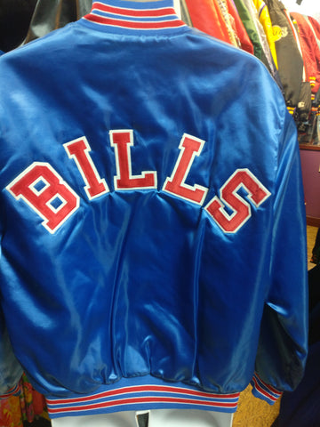 Vintage 80s BUFFALO BILLS  NFL Back Patch Chalk Line Jacket L