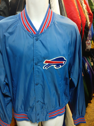 Vintage 80s BUFFALO BILLS NFL Chalk Line Windbreaker Nylon Jacket XL