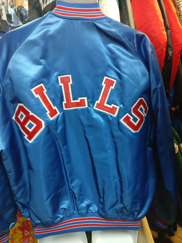 Vintage 80s BUFFALO BILLS NFL Back Patch Chalk Line Jacket XL