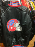 Vintage 80s BUFFALO BILLS NFL Back Patch Nylon Jacket 2XL